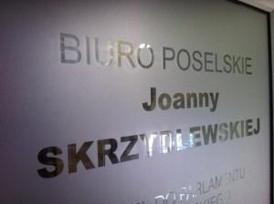 Biuro poselskie Joanny Skrzydlewskiej